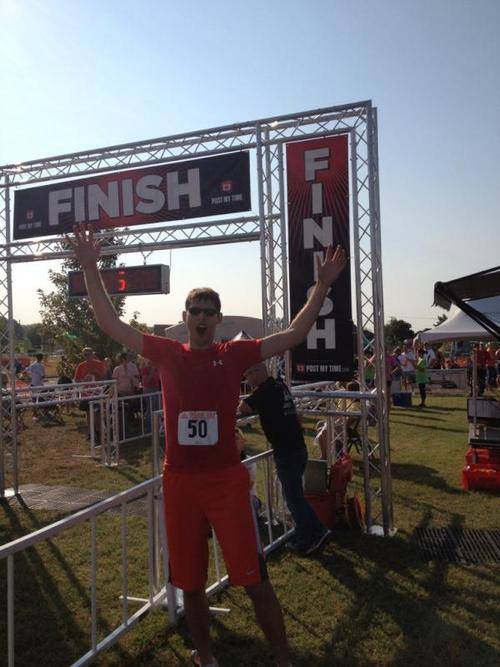 I finished a sprint tri in Republic, MO.