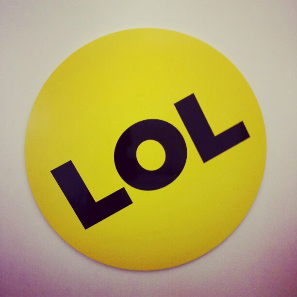 This is the giant LOL button at the entryway to the BuzzFeed HQ