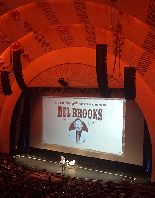 that's Mel Brooks at Radio City